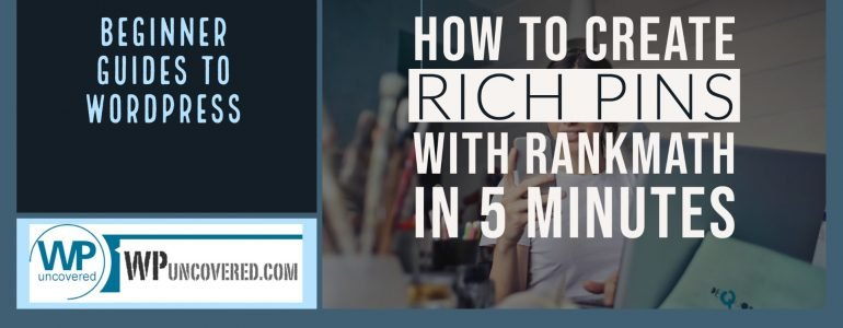 How to create Pinterest Rich Pins with Rank Math - in 5 minutes Rich Pins display more information about the connected website, update automatically and are branded. It takes 5 minutes to connect with WordPress and create Rich Pins with RankMath plugin.