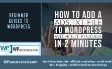 How to add ads.txt files to WordPress websites without plugins in 2 minutes
