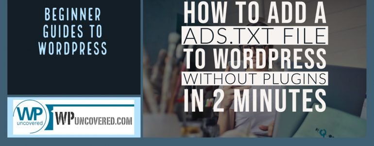add ads.txt to wordpress with FTP