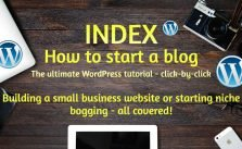 Index: How to start a blog 2021 – The ultimate tutorial step-by-step