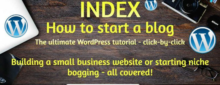 how to start a blog WordPress tutorials for beginners