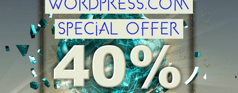 get 40% discount on WordPress.com accounts